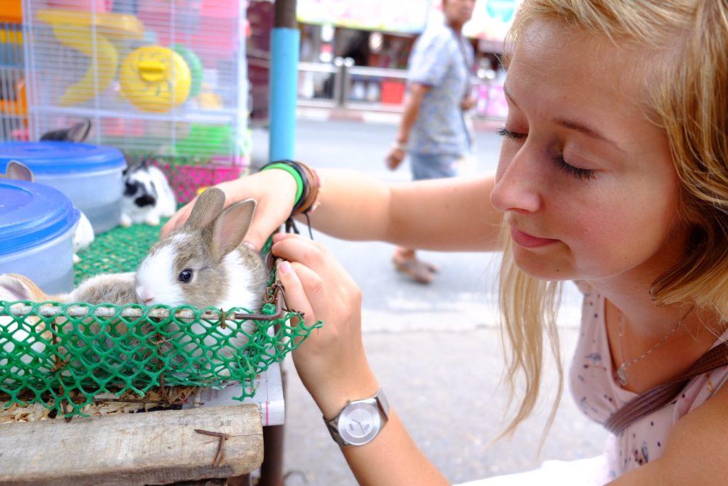Na cestě z tržiště Lena potkala zdroj nekonečné pohody a radosti