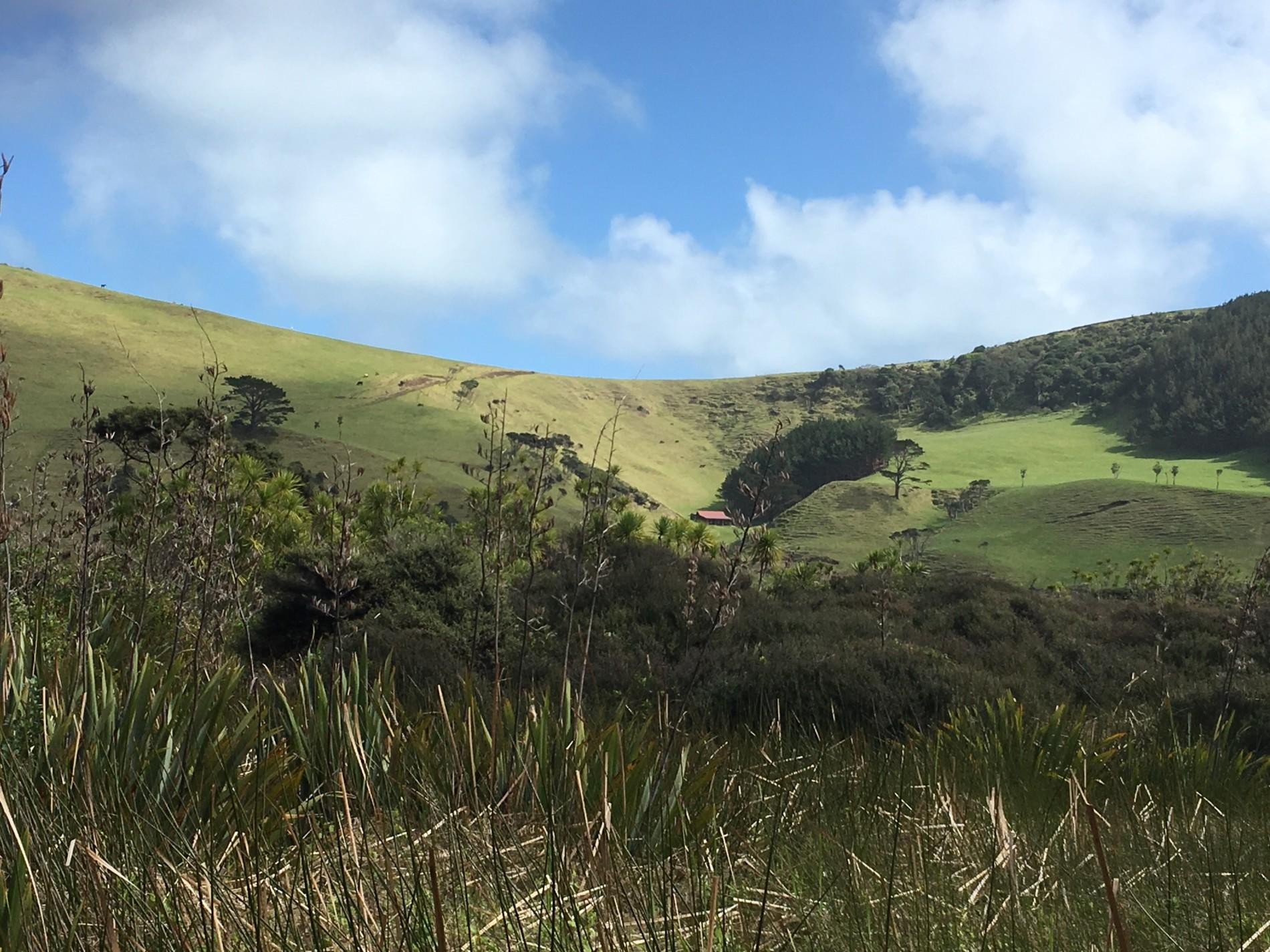 chaloupka uprostřed kopců