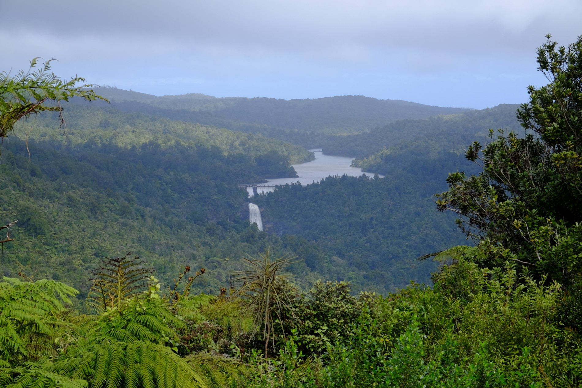 úžasný výhled na přehradu
