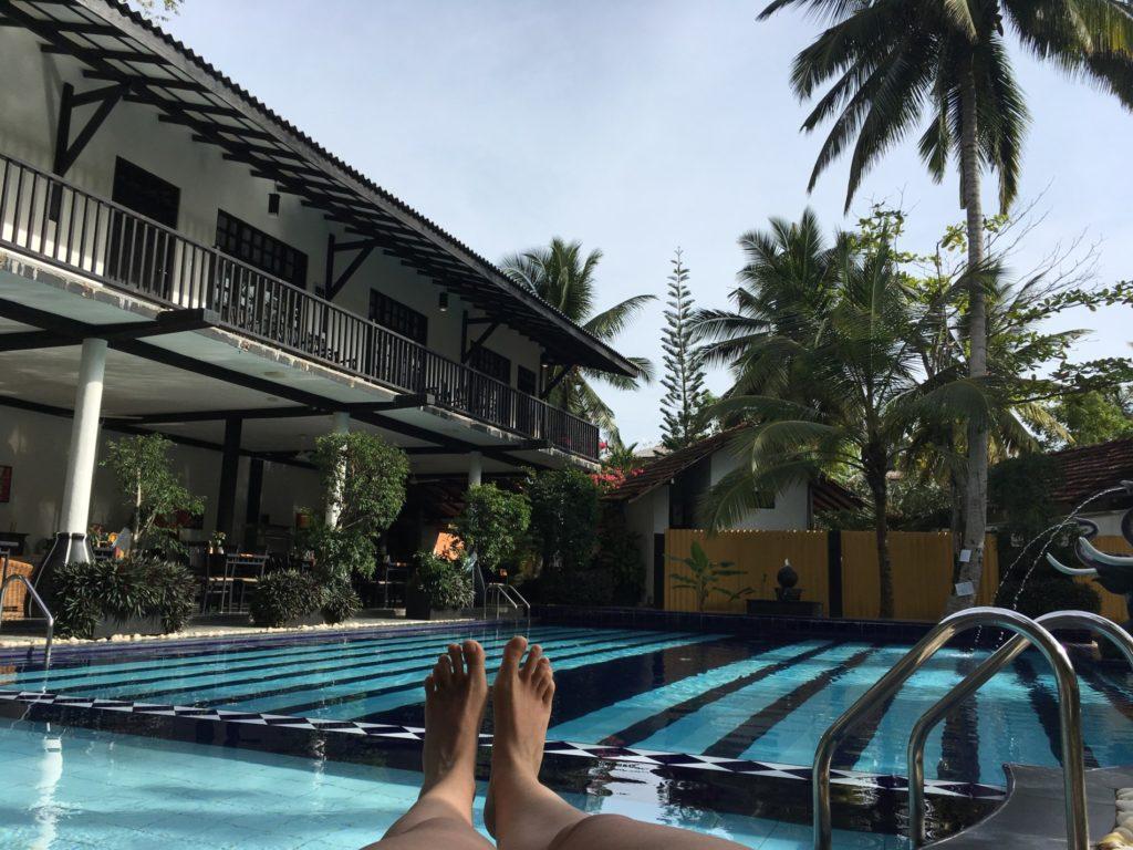pohodinda u bazénu